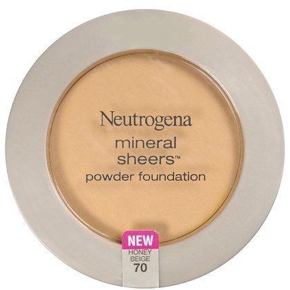 Neutrogena Cosmetics Mineral Sheers Compact Powder Foundation - Honey Beige 70 - 2 Pack