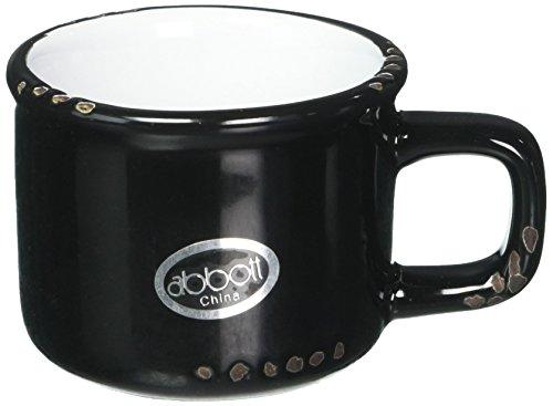 Abbott Collection Enamel Look Stoneware Espresso Cup, Black by Abbott Collection