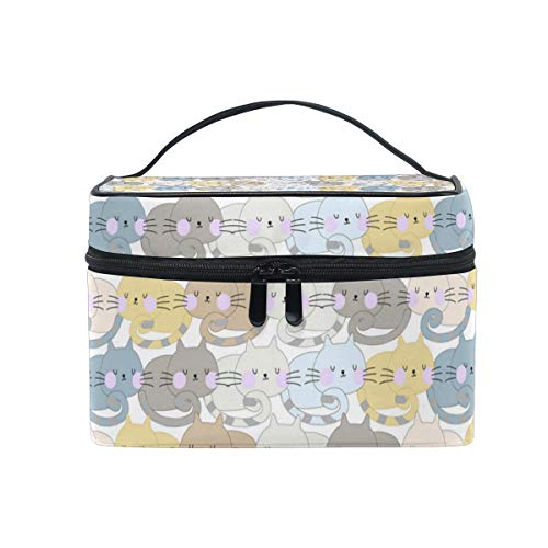 Makeup Bag Cute Cat Sleep Cosmetic Case Portable Carry Travel Toiletry Bag Toiletry Bags for Womens Storage -