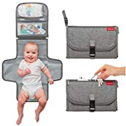 Portable Changing Pad Diaper Station - Baby Travel Hygiene Mat with Comfort Pillow by Groverly