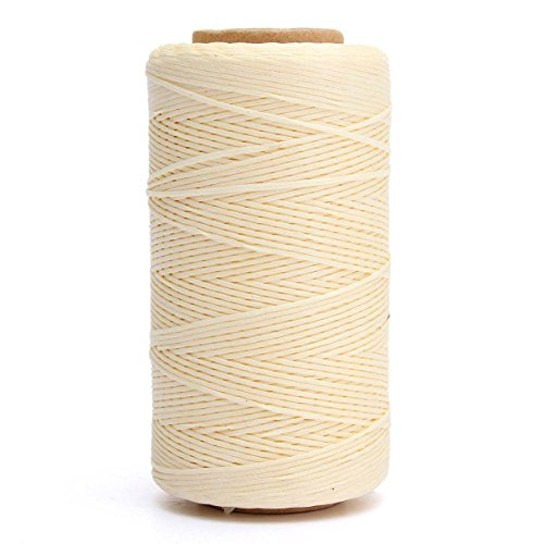 Linen Thread (KINGSO 284 Yards Leather Sewing Waxed Thread DIY Craft Beige)
