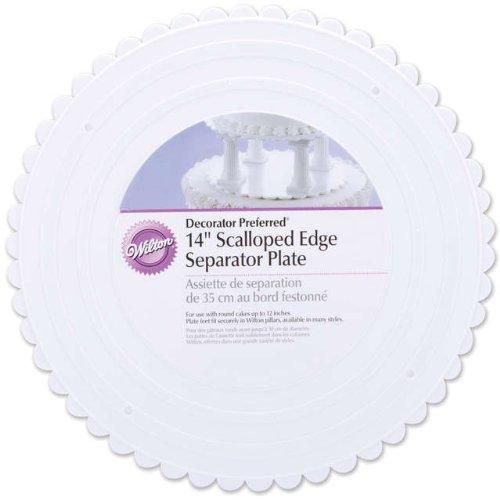 Wilton 14 Inch Scalloped Edged Round Separator (14 Cake Plate)