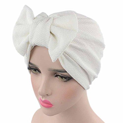BEAUTYVAN HOT!Bow Casual Head Wrap Cap Adult Women Bow Cancer Chemo Hat Beanie Scarf Turban Head Wrap Cap,Multiple Colors Available -