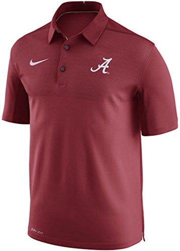 Alabama Crimson Tide Nike 2017 Elite Coaches Sideline Performance Polo (Crimson, Large) (Mens Graphic Applique Polos)