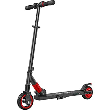MEGAWHEELS S1 Electric Scooter Lightweight, Foldable, Portable Electric Kick Scooter Speeds Up to 14MPH and 5-8 Miles Suitable for Riders Under 150 LBS
