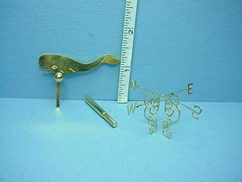 1917-100 1//12 scale dollhouse miniature by Clare-Bell Weather vane Whale
