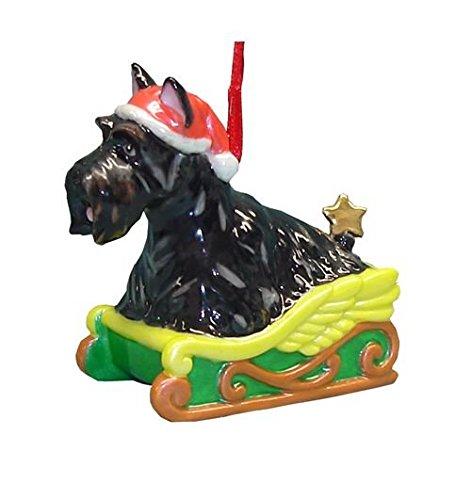 (StealStreet SS-D-X042 Cute Christmas Holiday Scottish Terrier Dog Ornament Statue Figurine)
