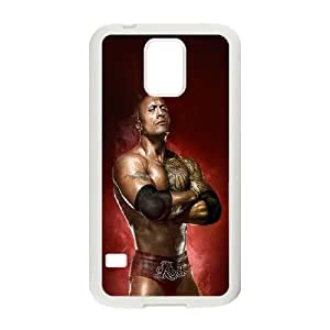 Samsung Galaxy S5 Cell Phone Case White Wwe Rock Champion BNY_6790614