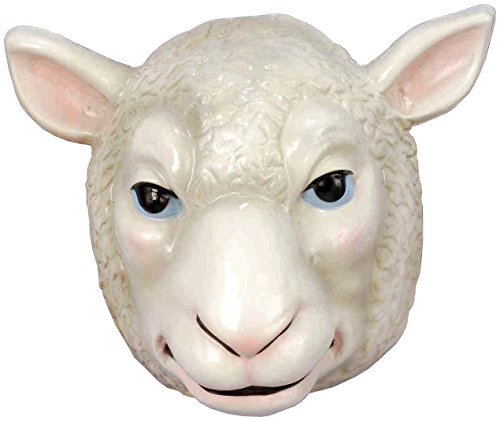 Forum Novelties Child's Plastic Animal Mask, Sheep