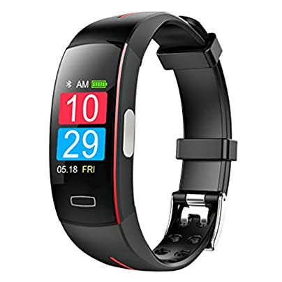 LIUJING Heart Rate Fitness Wristband Smart Watch Waterproof IP67 Activity Tracker Blood Pressure Smart Bracelet with Stopwatch Sport GPS Pedometer Step Calorie Counter-red Estimated Price -