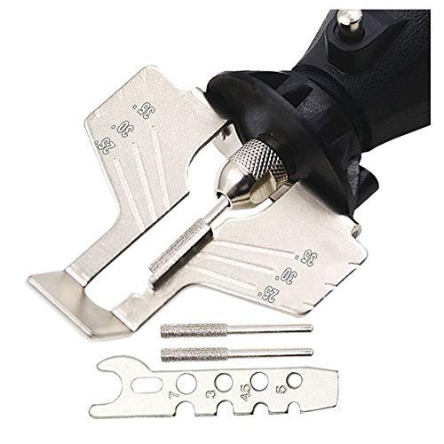 Chiloskit Saw Sharpening Kit Rotary Power Drill Hand Sharpener Set Lawn Mower & Garden Tool Attachment fit Dremel