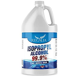 Isopropyl Alcohol (IPA) USP/Medical Grade 99.9% Purity - Made in The USA - FDA Registered Facility - Concentrated Rubbing Alcohol One Gallon (128 Fluid Ounces) by Regalia