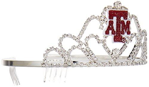 - NCAA Texas A&M Aggies Girls Princess Tiara, Silver, One Size