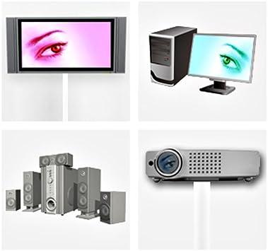 largo: 30 cm List/ón de aluminio para cables de LCD y plasma color blanco Ac