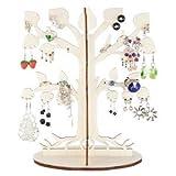Árbol de madera ecológica para sus joyas / Árbol para pendientes / Soporte de pendientes / Titular para joyas / Organizador de joyas 'Leafy dream'(De madera natural)