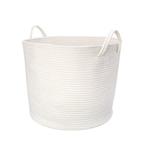 Mkono Cotton Rope Storage Basket with Handles, 17