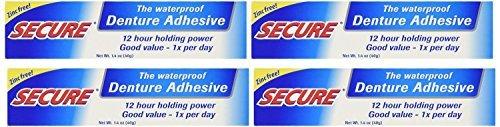 Secure Denture Bonding Cream by Dentek - 1.4 Ounces (Pack of 8)