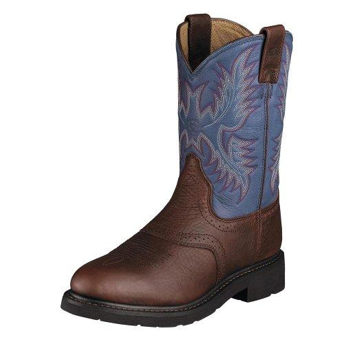 Ariat Menns Sierra Sal Arbeid Boot Redwood / Blått Skinn