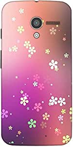 Snoogg Flower Graphic Designer Protective Back Case Cover For Moto-X