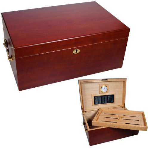 Cuban Crafters Perfecto Cherry Cigar Humidor 120 Count