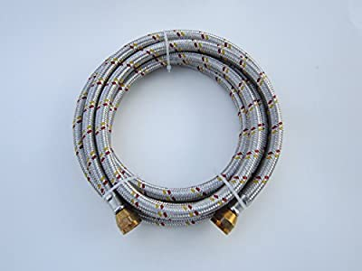 """10' Stainless Steel Braided Flexible Hose For Natural/propane Gas 3/8""""female Flare Nut"""