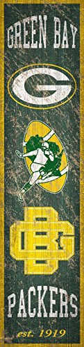 (Fan Creations Green Bay Packers Heritage Banner Wood Sign 6