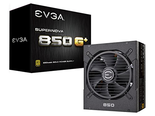 EVGA SuperNOVA 850 G+, 80 Plus Gold 850W, Fully Modular, FDB Fan, 10 Year Warranty, Includes Power ON Self Tester, Power Supply 120-GP-0850-X1