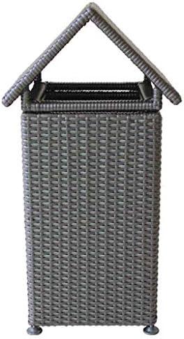 ゴミ袋 ゴミ箱用アクセサリ PE籐製織ゴミ箱屋外公園コミュニティガーデンホテル大クリエイティブゴミ箱 キッチンゴミ箱