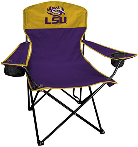Rawlings NCAA XL Lineman Tailgate and Camping Folding Chair, LSU - Lsu Tigers Tailgate Chair