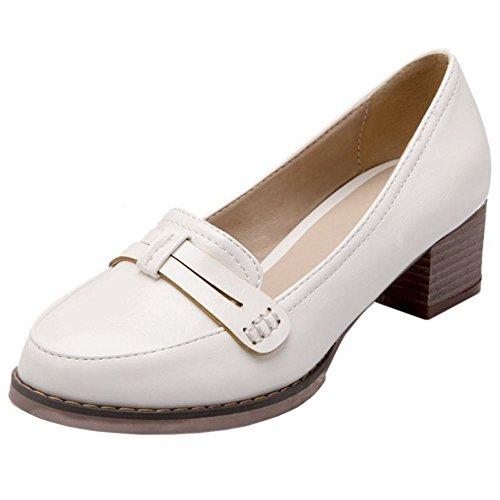 White Clasico Mujer Zanpa Zapatos Brogue YBX8q8