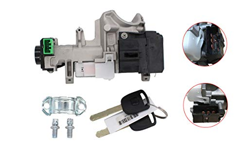 (Ignition Switch Cylinder Lock w/ 2 Keys for Civic 2003-2005 Auto Transmission 4-Door)