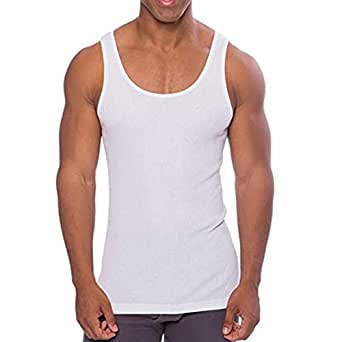 Extra Thin Tagless White Cotton Undershirt for Men, Crew Neck Tank Tops, A-Shirt Tank Top, White Vest in Men and Teenagers Underwear