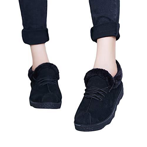Femme Chaussures, Manadlian Bottes Hiver De Neige Homme Boots Fourrees Bottines Mode Courts Baskets Avec Doublure Chaude Chaussons 36-40 Noir