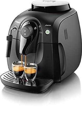 Saeco Xsmall HD8645/47 Independiente Totalmente automática Máquina espresso 1L Negro - Cafetera (Independiente, Máquina espresso, Negro, Taza, De plástico, ...