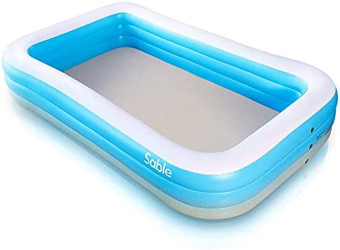 Sable Piscina Rectangular Inflable para niños y Adultos, 300 x 184 ...