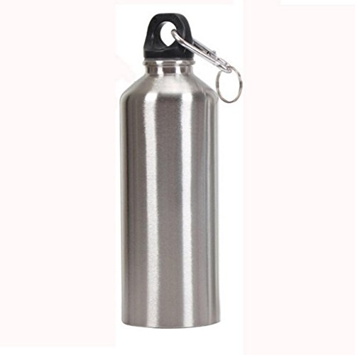 Stainless Steel Wide Mouth Drinking Water Bottle,Outdoor Travel Sports Kettle ,Tuscom (400ML)