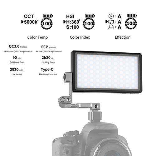 TADAMI Vlogger Boling P1 Handheld RGB led Video Light 2500K-8500K Bi-Color Camera & Photo Accessories (Black) by TADAMI (Image #8)