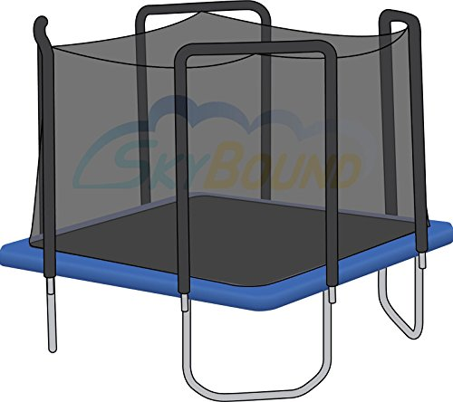 Net for 13ft x 13ft Trampoline Enclosure using 4 Arches and (Square Trampoline Enclosure)