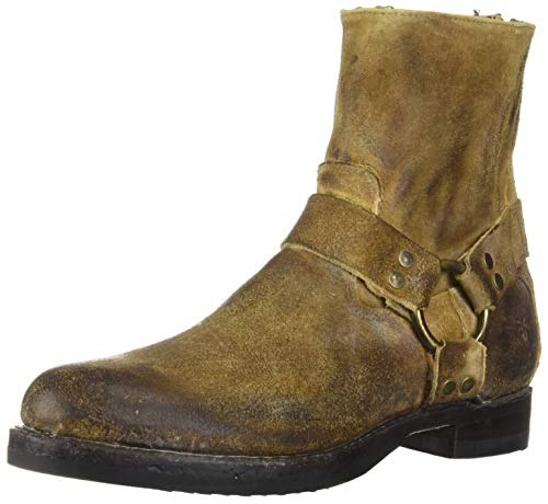 FRYE Men's John Addison Harness Back Zip Fashion Boot, Wheat, 10 M Medium US