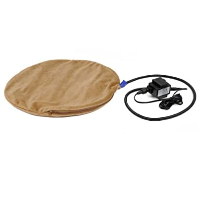 PlayaPup Warming Heated Mat for 16-Inch Diameter Cats/Dogs, Chocolate Brown
