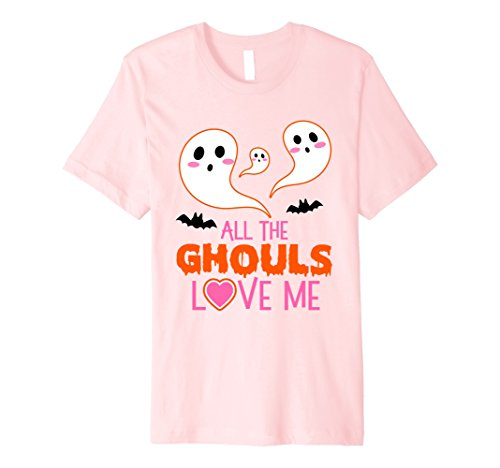 Ghost Bc New Costumes (Mens Cute Bat Ghost All The Ghouls Love Me Toddler Girls Shirt 2XL Pink)