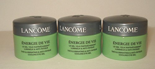 Lancome Energie De Vie The Illuminating and Anti-fatigue Cooling Eye Gel, 0.20 fl oz Pack of 3