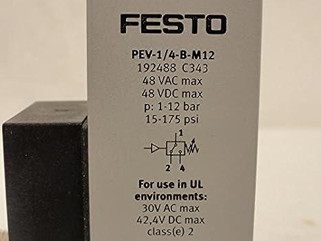 NEW FESTO PEV-1//4-B-M12 192488