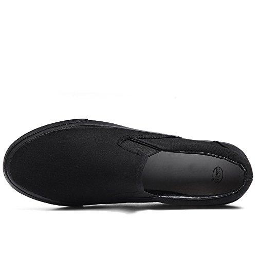 uomo casual da da scarpe uomo nere pigre uomo tela scarpe scarpe Scarpe di uomo completamente di scarpe nero da da stoffa pedali uomo da WFL Rq5ZEwBT