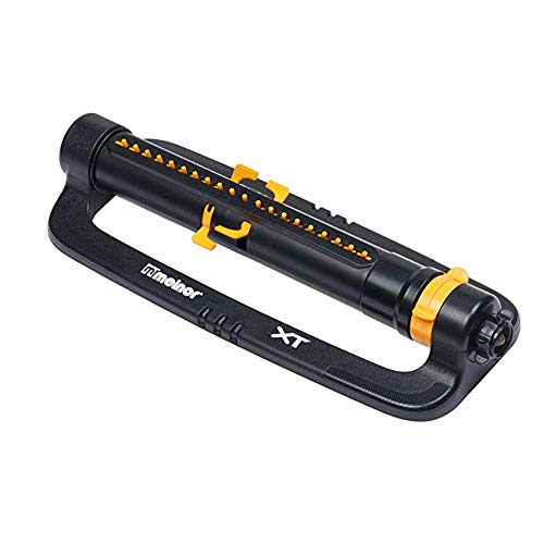 (Melnor XT4100 Deluxe Turbo Oscillating Sprinkler, One Size, Black/Yellow(2 Pack))