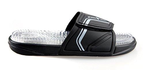 Mad Wave-01W-Pantofole M0320 04, 8 cm, colore: bianco/nero, Taglia: 45