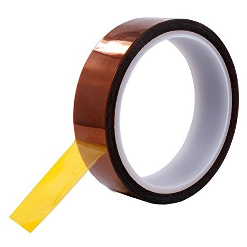 Retermit Heat Resistant Tape Sublimation Tape 20mm X100ft Heat Resistant Kapton Tape Polyimide Film Adhesive Tape (20mm33m)
