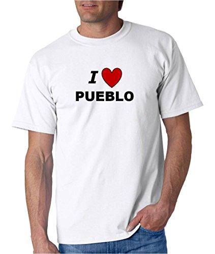 I LOVE PUEBLO - City-series - White T-shirt - size XL
