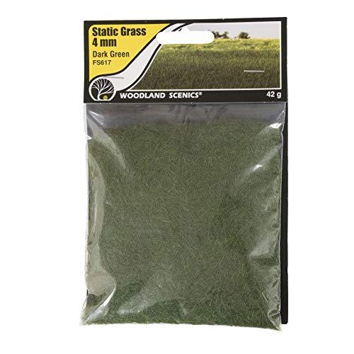 Woodland Scenics FS617 Static Grass, Dark Green 4mm