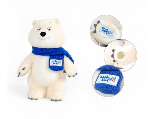 Polar Bear Mascot Russia Sochi 2014 Winter Olympic Games 7.87in (20cm)